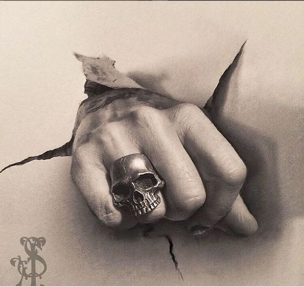 hand pencil drawing by stacy jean