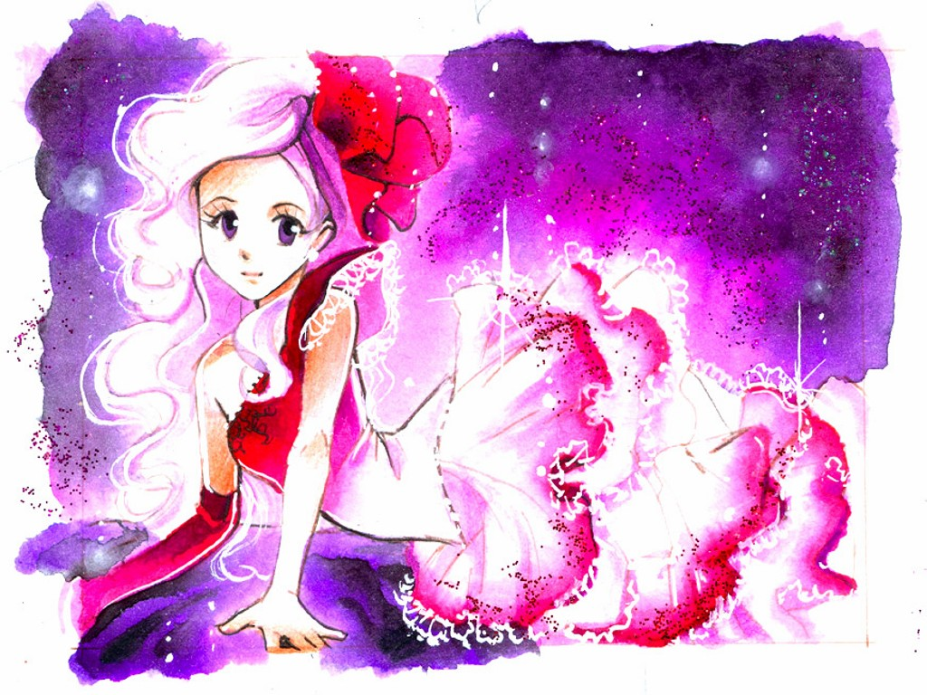 lights manga drawings watercolor paintings by naschi