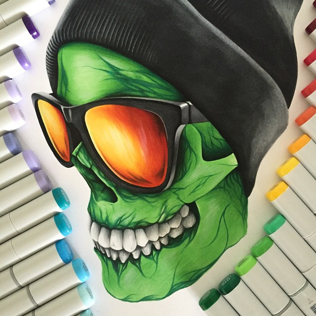 ninja color marker drawings by stephen ward