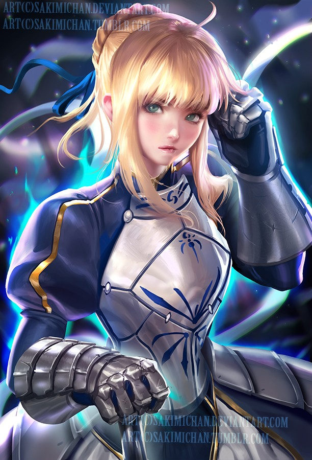 saber digital art by sakimi chan