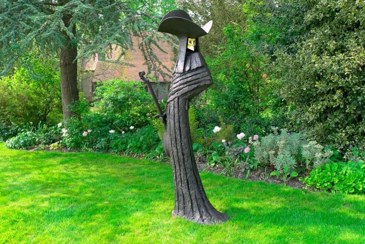 woman outdoor garden sculpture by philip jackson