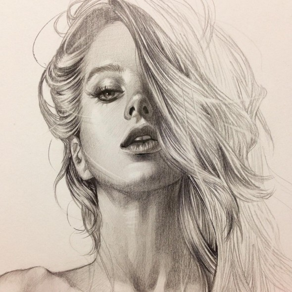 10 woman pencil drawing by siyoung