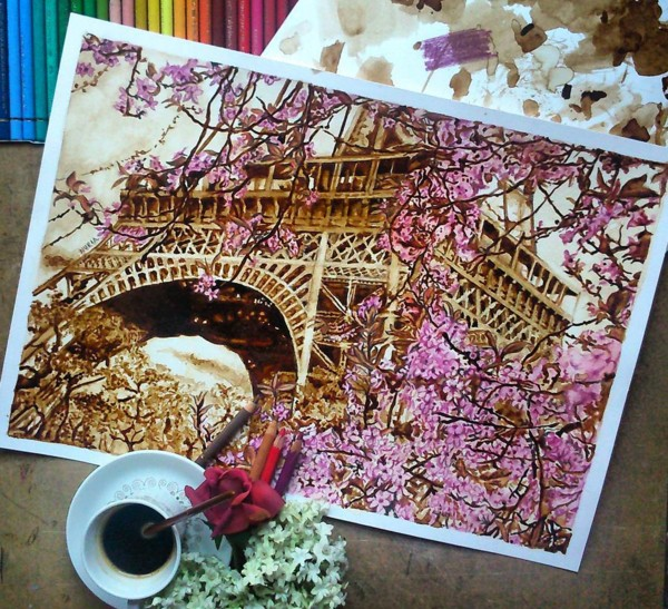 11 coffee art painting by nuriamarq