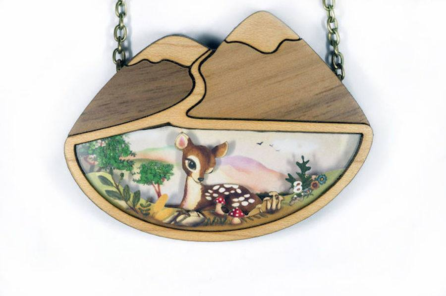 11 creative sculptures wood jewelry by laliblue