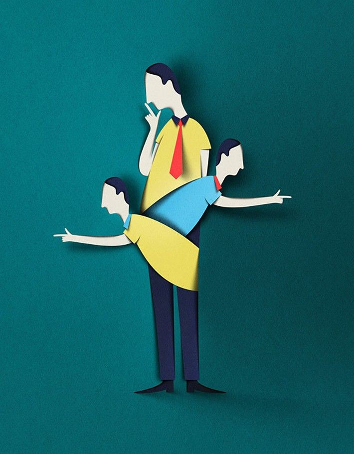 people paper illustration by eiko ojala