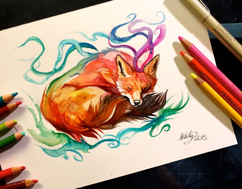 wolf animal drawings by katy lipscomb
