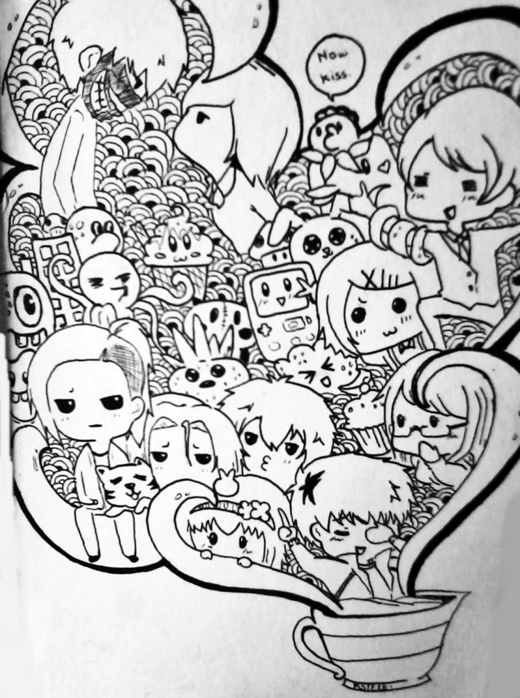 ghoul chibi doodle art by tokyo go go