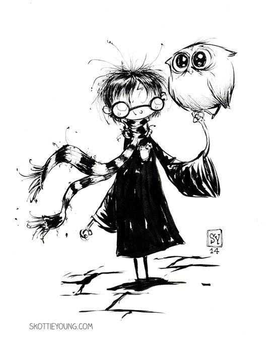 harry potter comic art by skottie young
