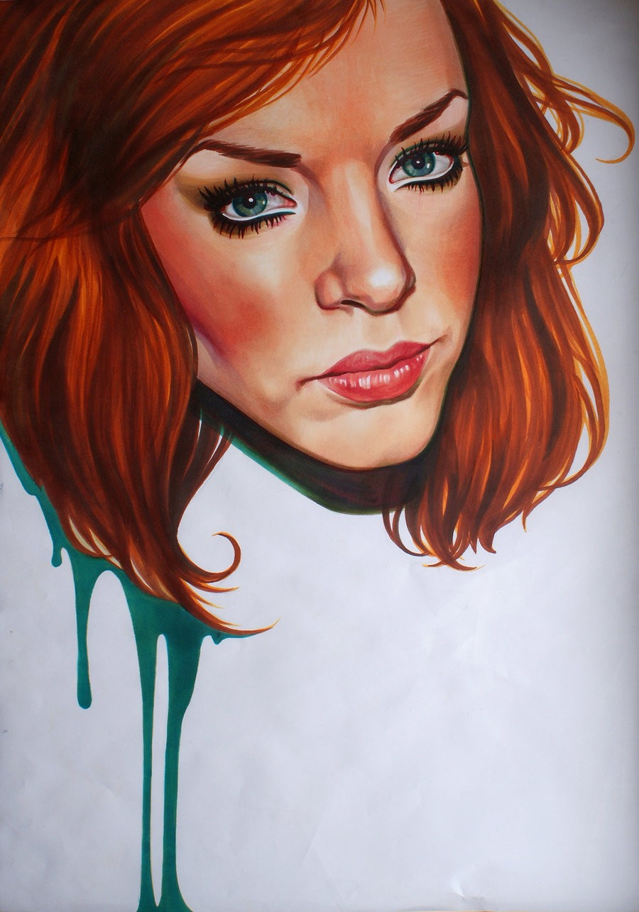 12 killer lady color pencil drawing by maria