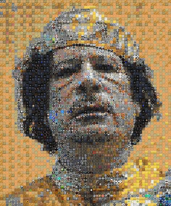 muammar al gaddafi portrait drawing by knight