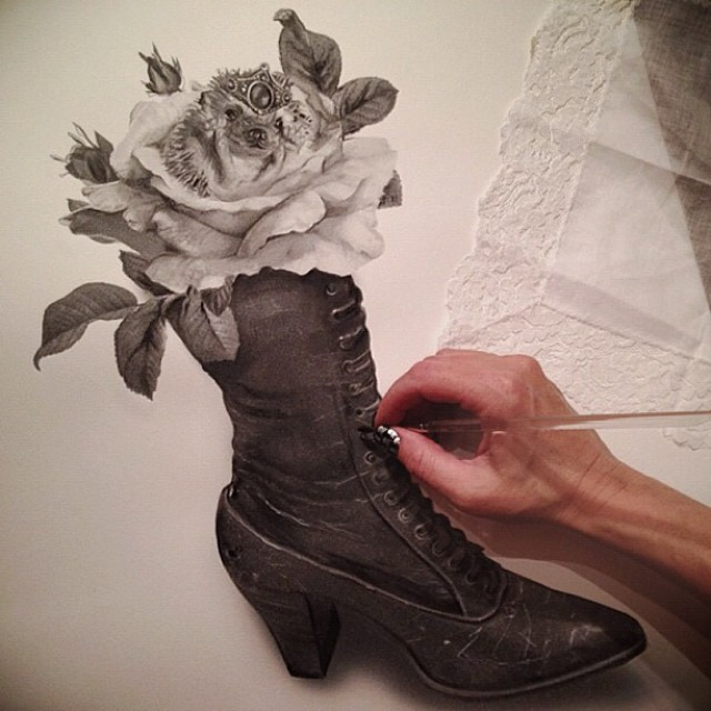 shoe pencil drawing by stacy jean