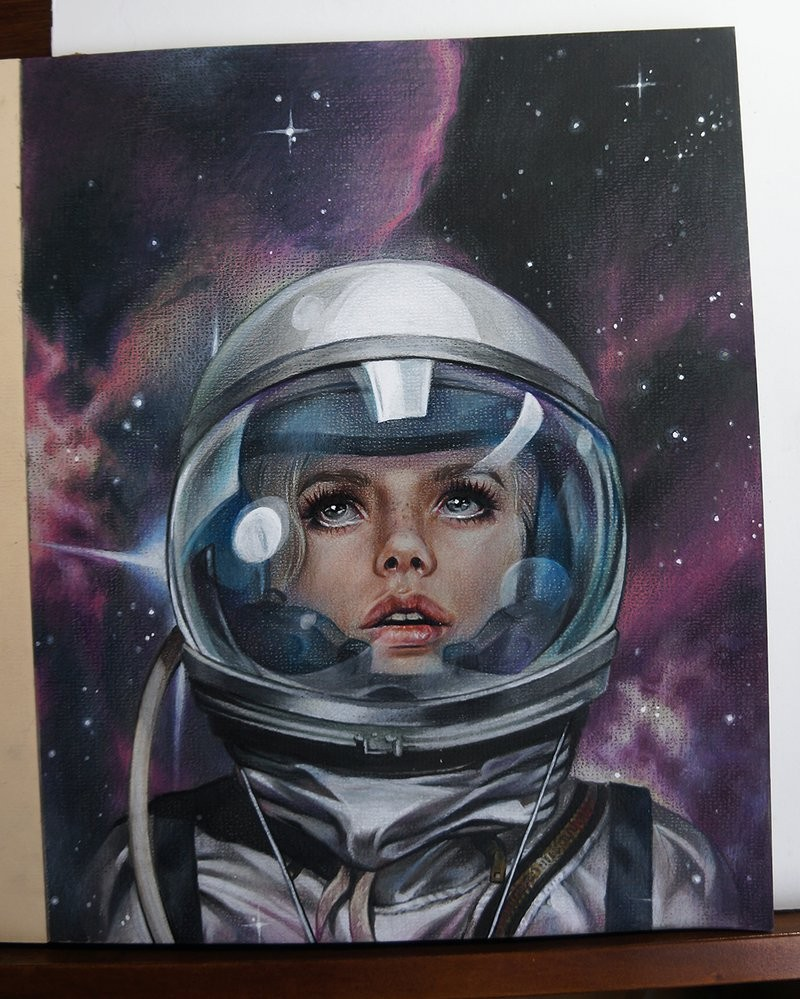 lost space color pencil drawing by maria