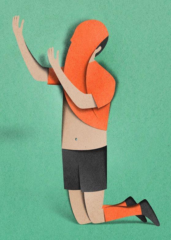 man paper art by eiko ojla
