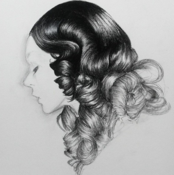 woman pencil drawing by siyoung