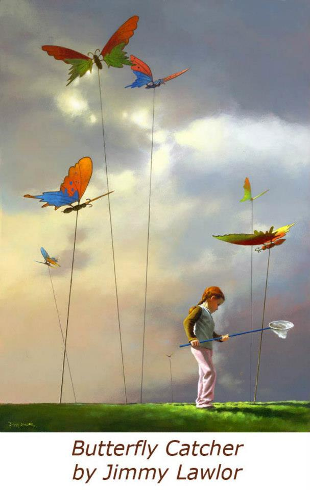 butterfly catcher paintings by jimmy lawlor