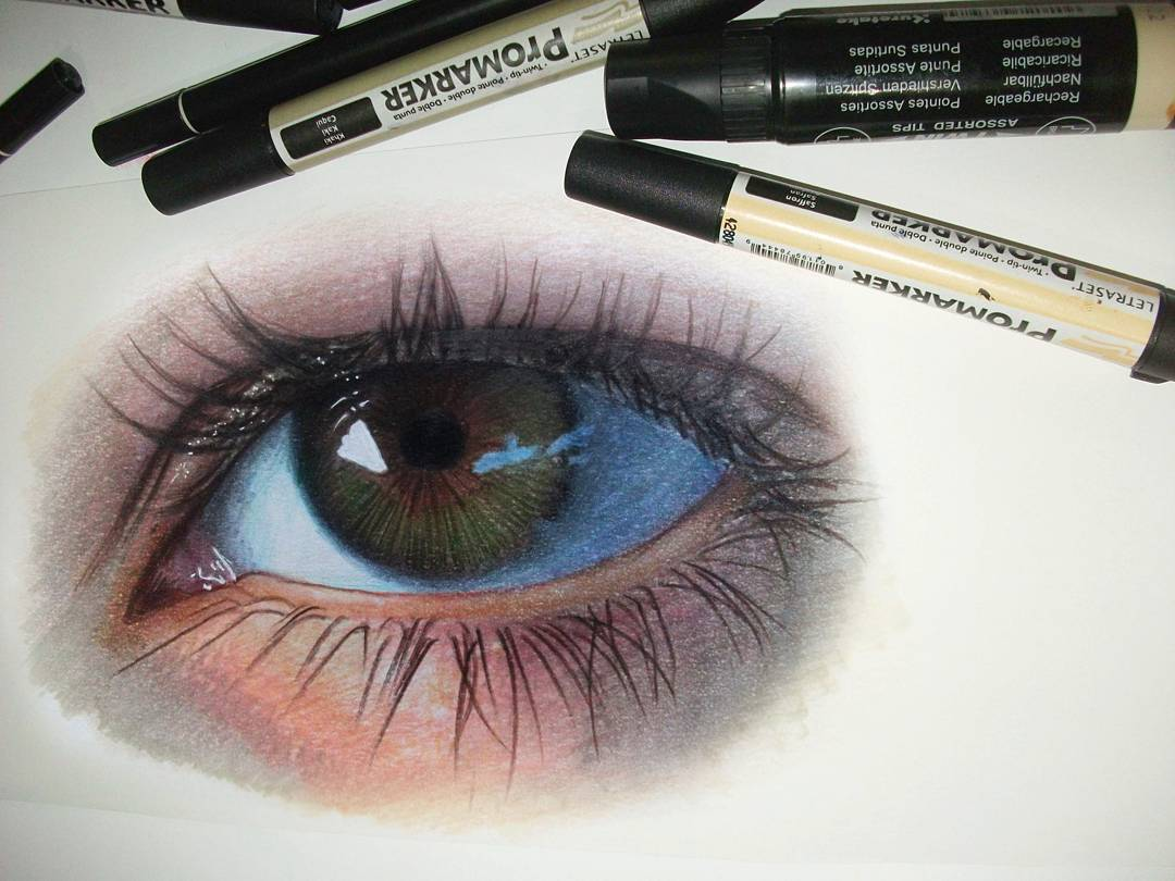 eye realistic drawings by ayse bakir