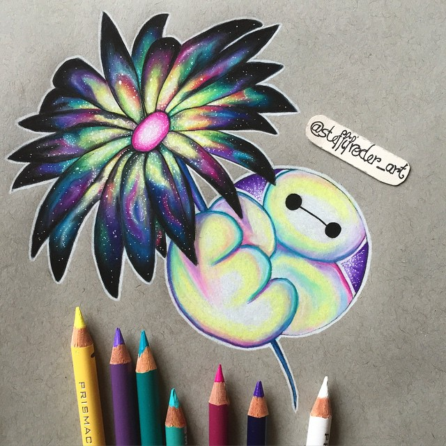 flower color pencil drawings by stephanie frederick