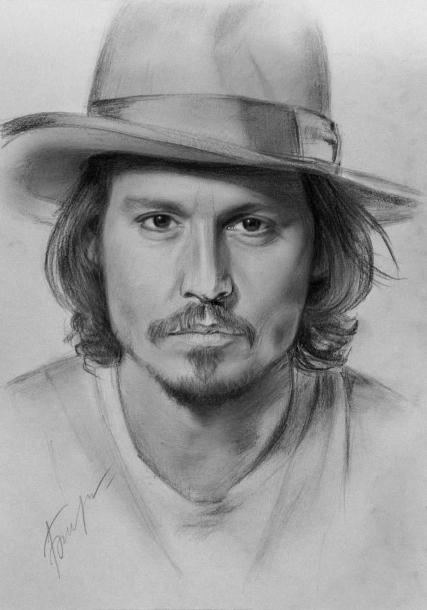 johnny depp portrait pencil drawings by vita biryulina