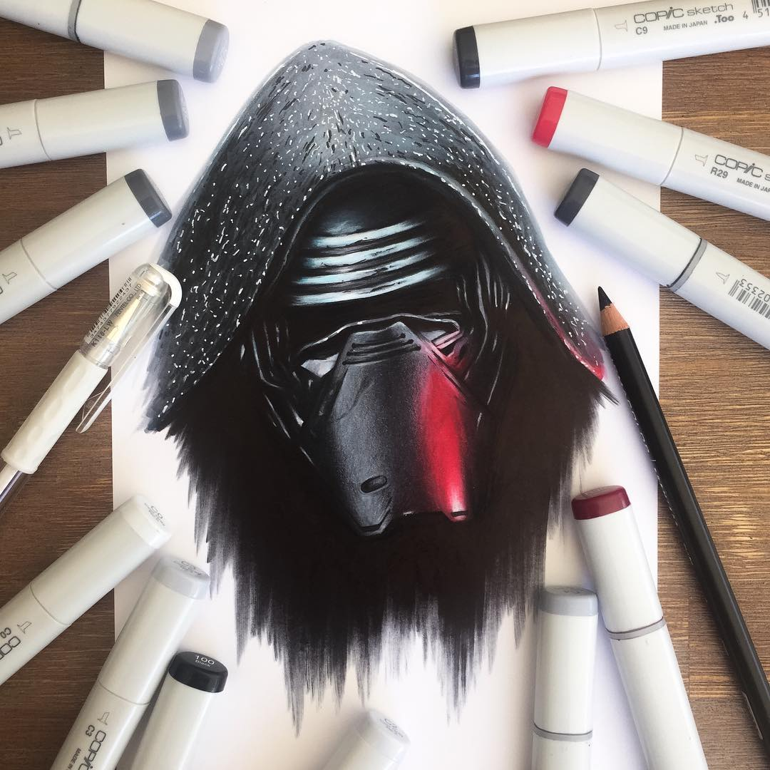 monkey color marker drawings by stephen ward
