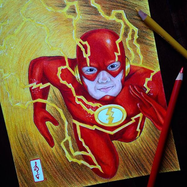 shaktimaan color pencil drawings by dada