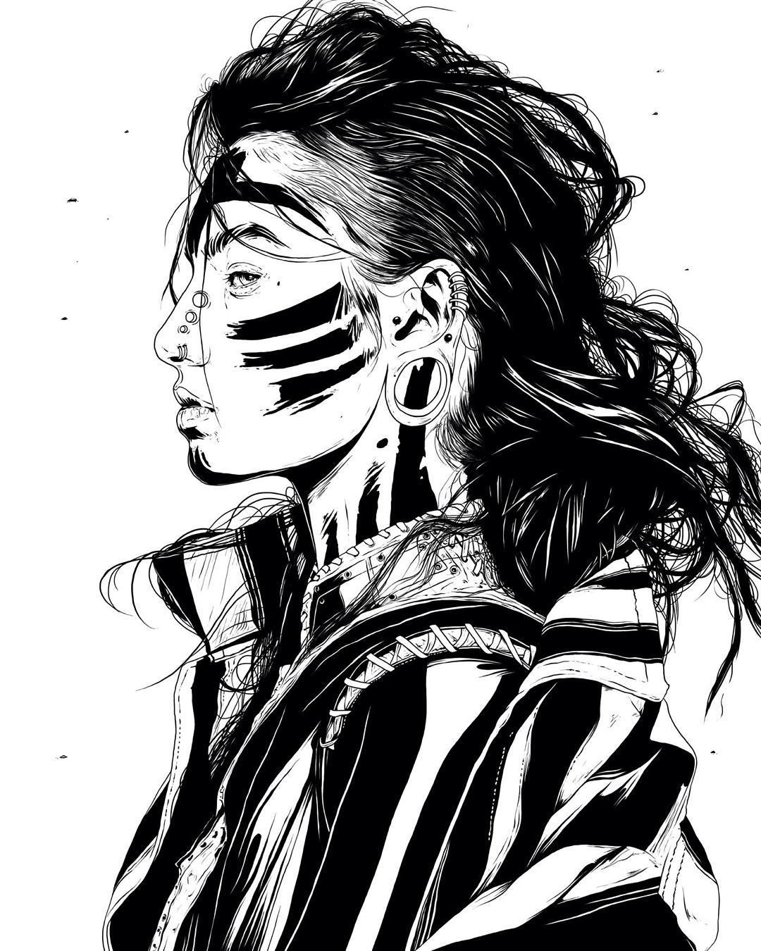 woman creative drawings by conrado salinas