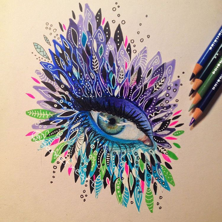 eye color pencil drawings by sanne