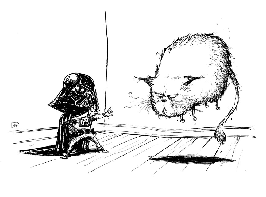 kid vader comic art by skottie young