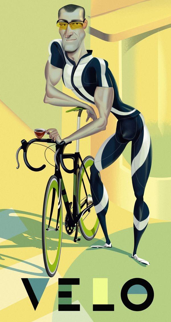 man funny digital illustration by nigel buchanan