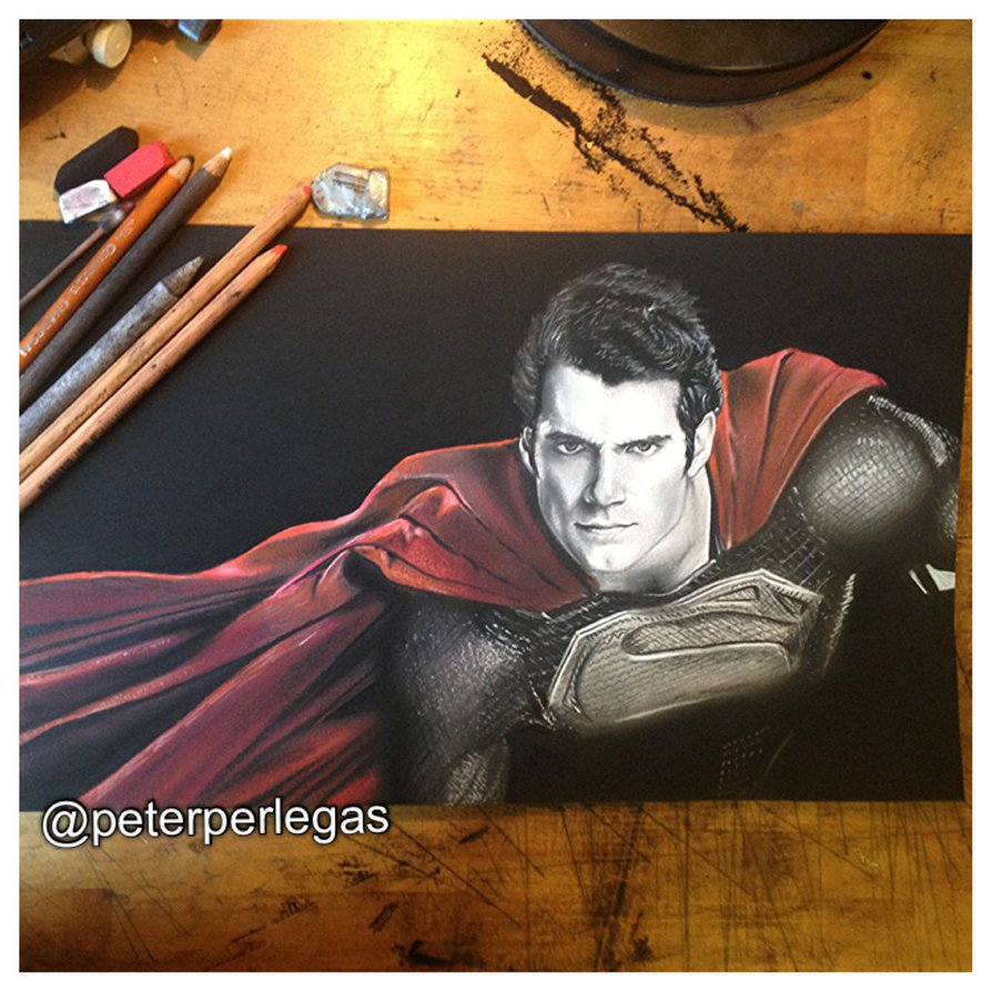 16 realistic drawing superman peter perlegas