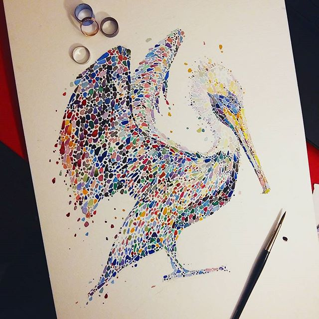 swan watercolor painting by anaensh