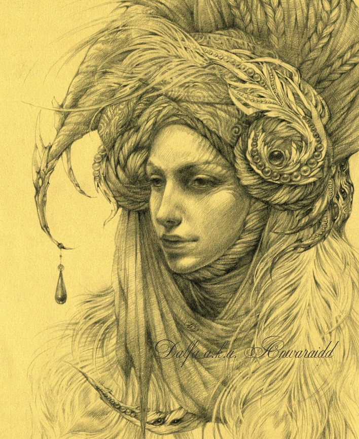 woman surreal drawings by olga