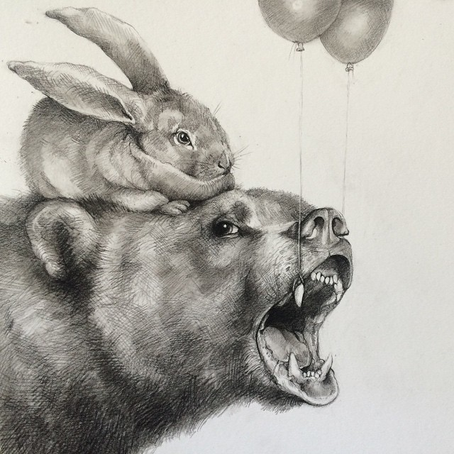 17 bear animal pencil drawing by adonna kharer