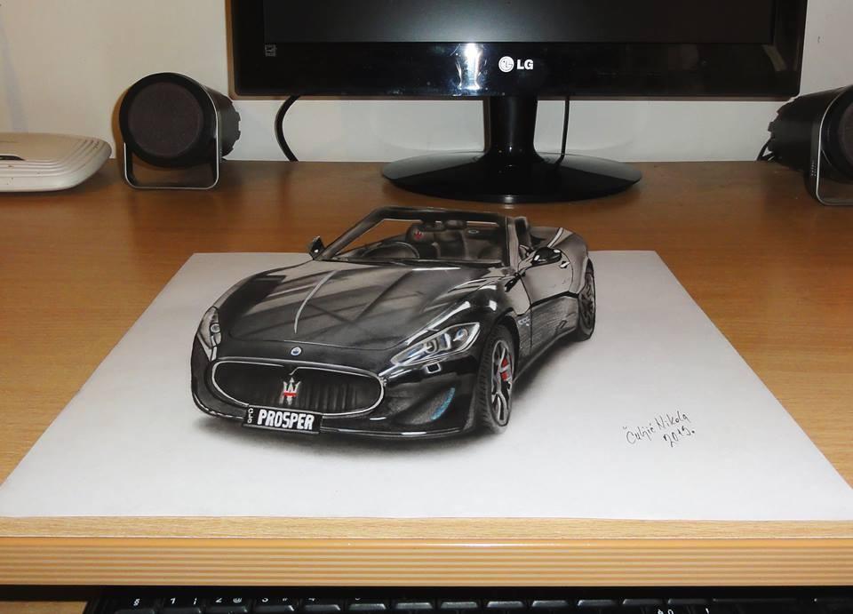 car 3d drawings by nikola culjic