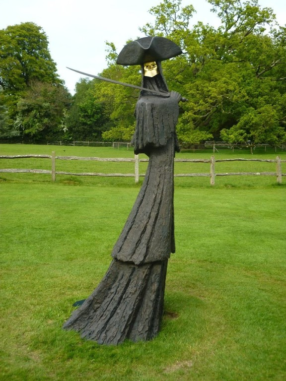 man outdoor garden sculpture by philip jackson