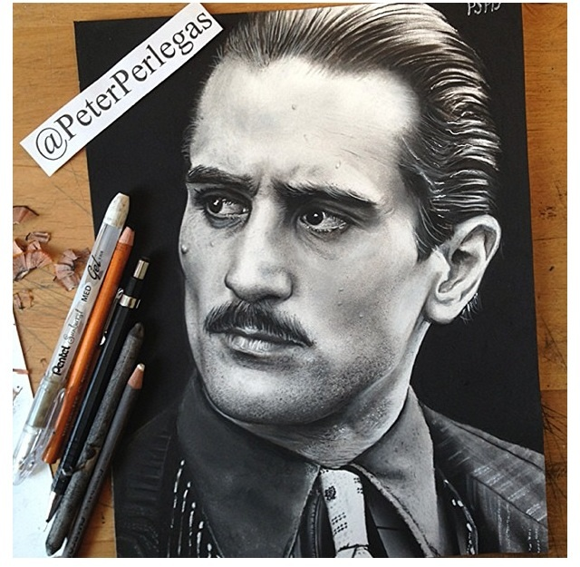 17 realistic drawing godfather de niro peter perlegas