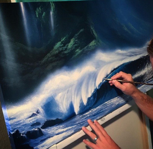 realistic ocean paintings by ashton howard