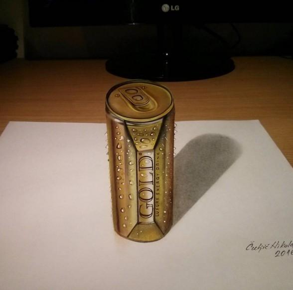 coke 3d drawings by nikola culjic