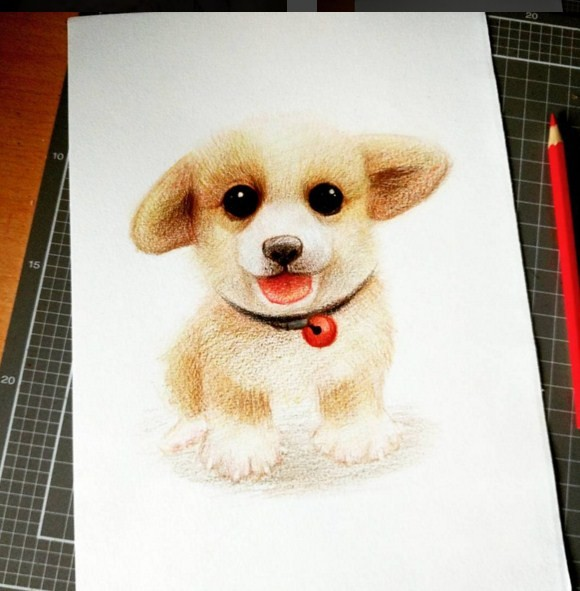 funny creative drawing work by oliudio
