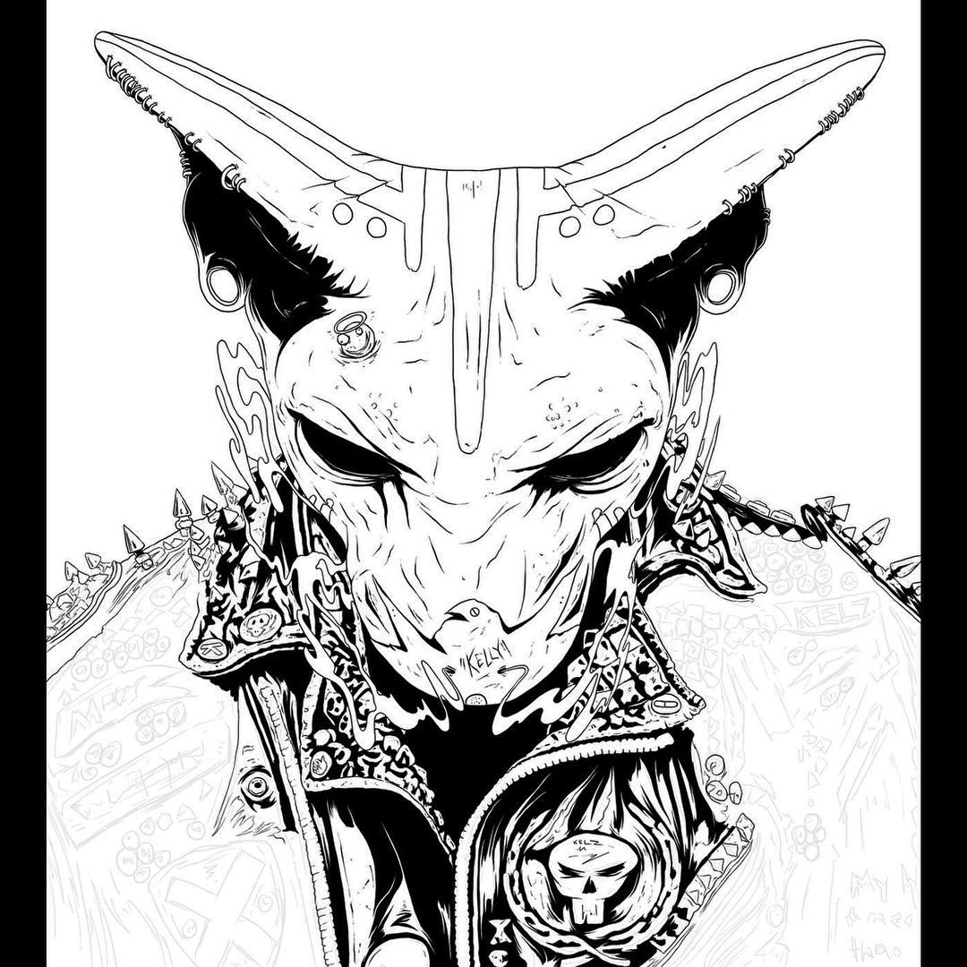goat creative drawings by conrado salinas