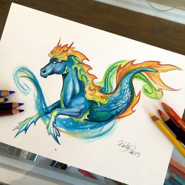 horse animal drawings by katy lipscomb