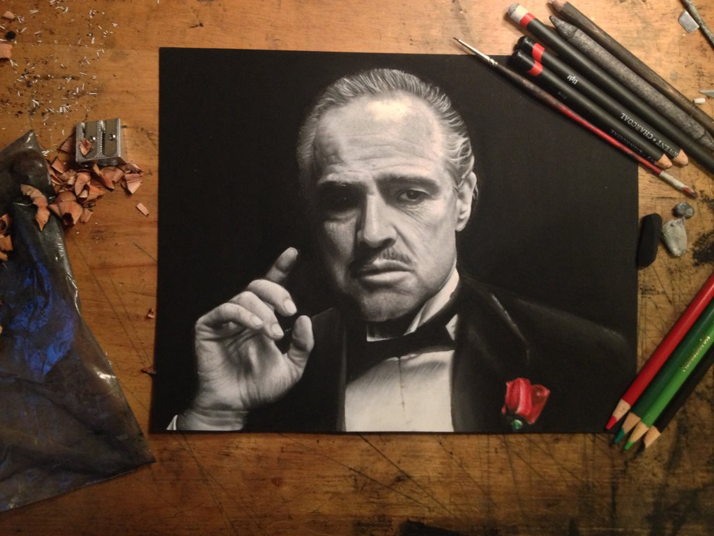 realistic drawing godfather peter perlegas