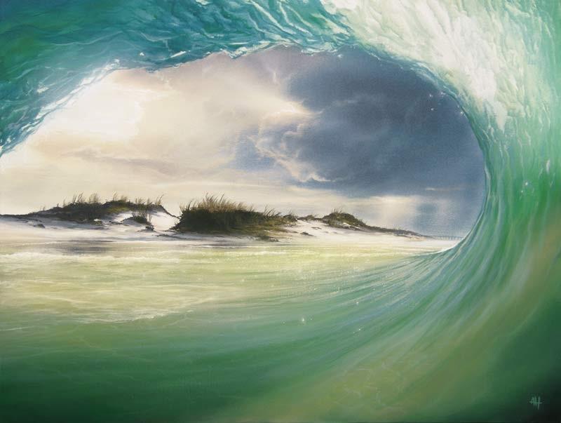 realistic ocean paintings by ashton howard