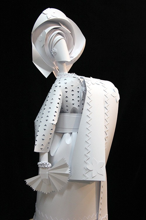 woman paper sculptures by asya kozina