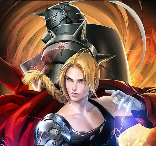 fullmetal alchemist digital art by sakimi chan