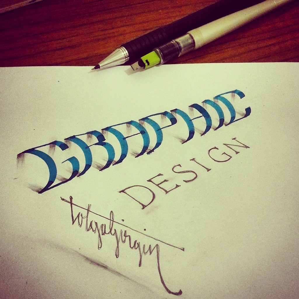 19 graphie 3d calligraphy drawings by tolga