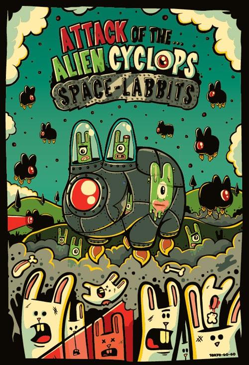 alien cyclops doodle art work by tokyo go go