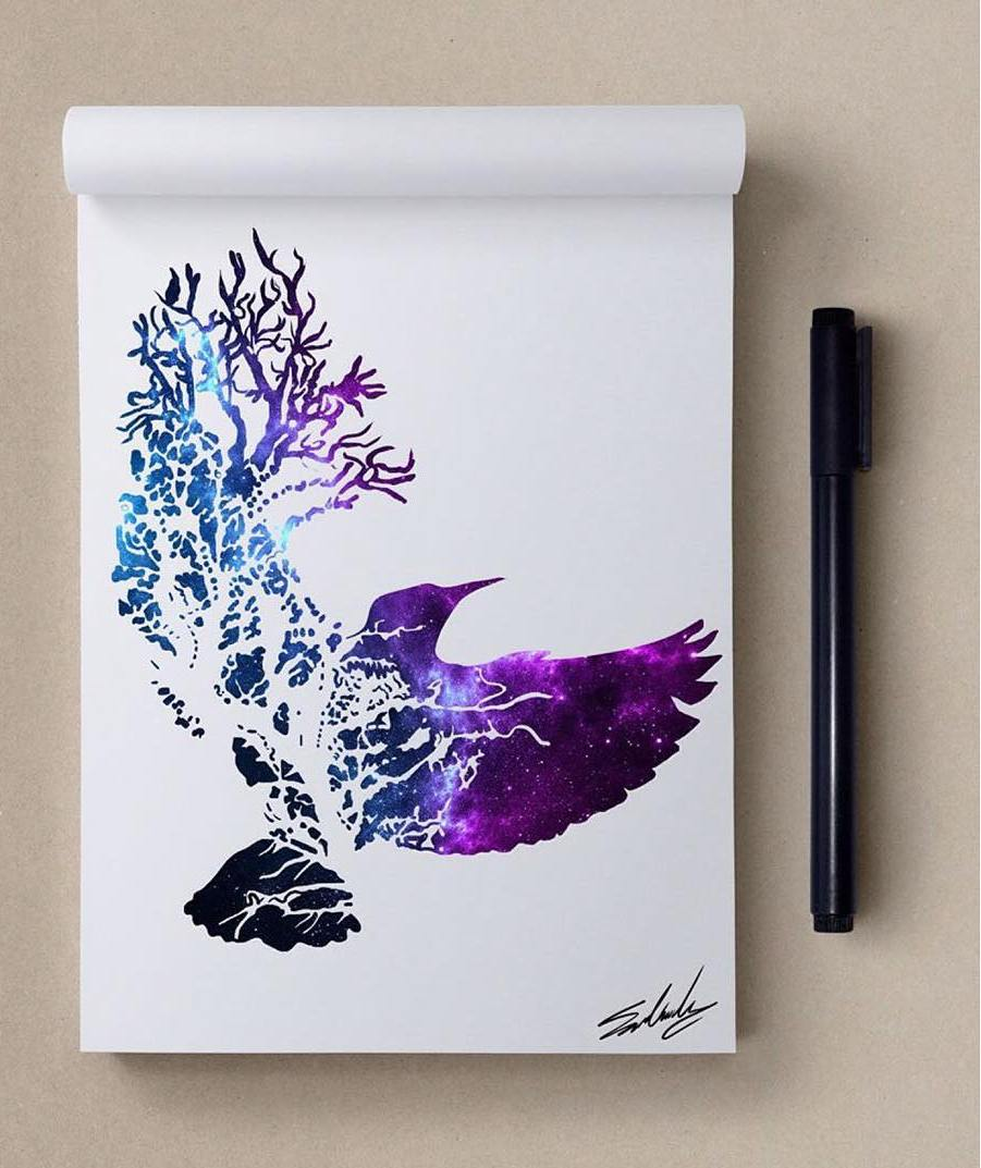tree creative paintings by muhammed salah
