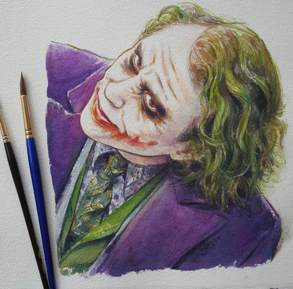 watercolor paintings by leow