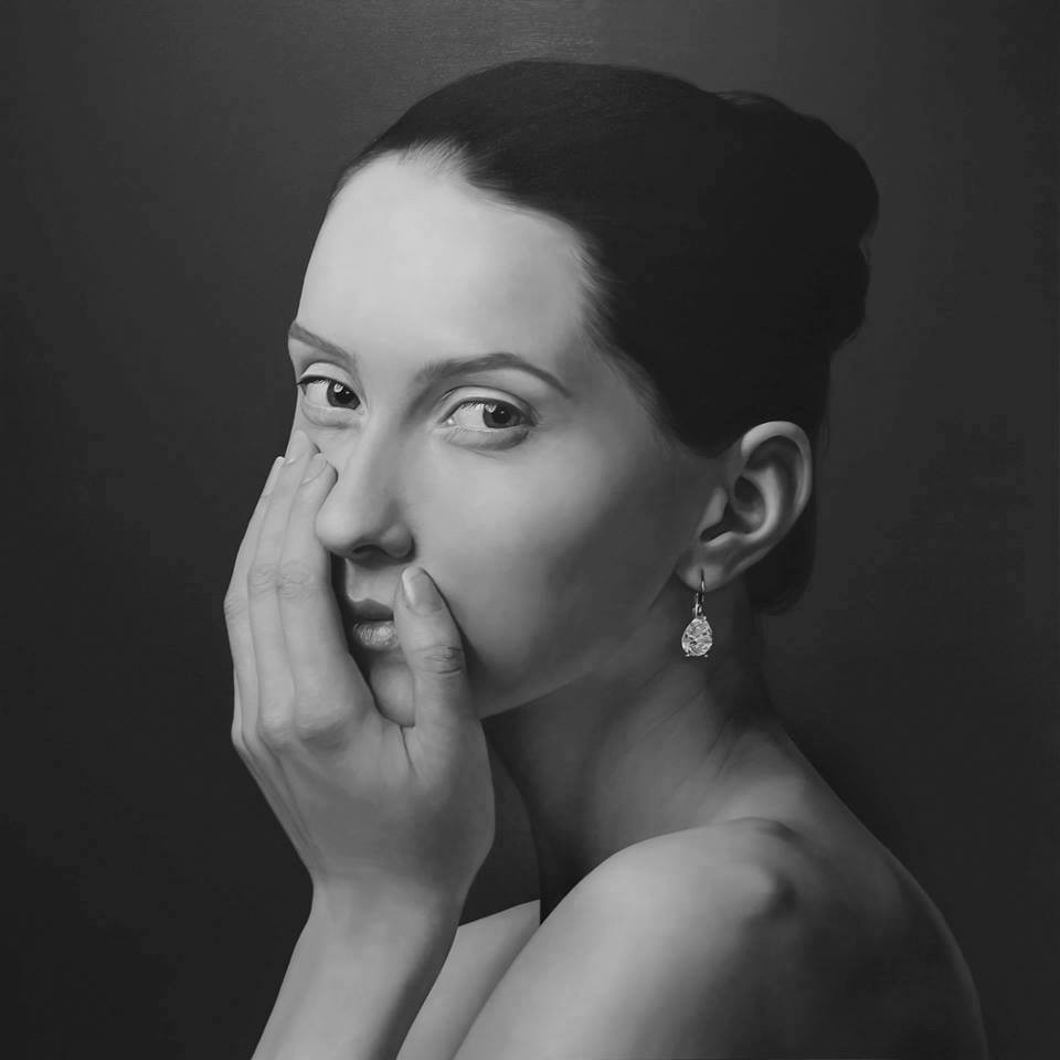 woman hyper realistic paintings by juan carlos