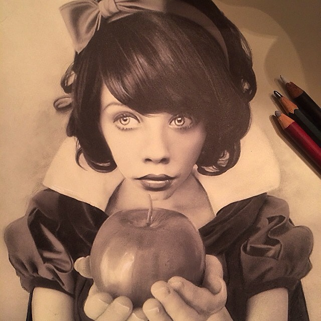 woman pencil drawing by stacy jean